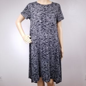 Lularoe Heather Black swing shirt dress G7